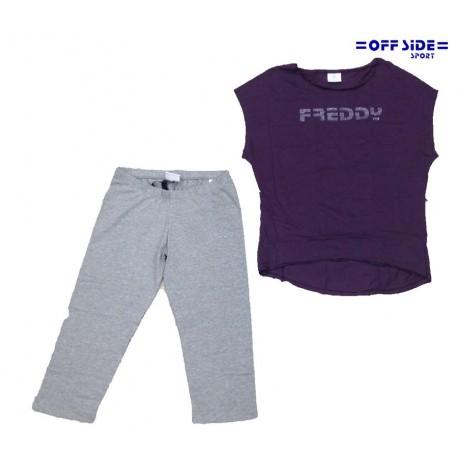 FREDDY CORSARO+ T-SHIRT viola grigio