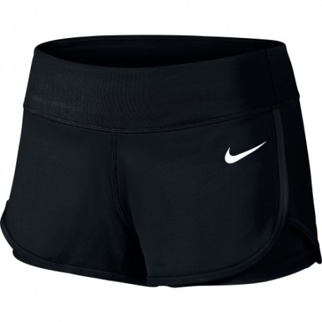 NIKE TENNIS DONNA  COURT SHORT 010 nero